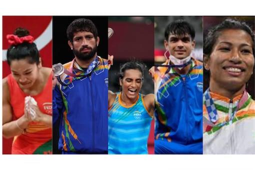 Mirabai Chanu, PV Sindhu, Ravi Kumar Dahiya, Neeraj Chopra, Lovlina