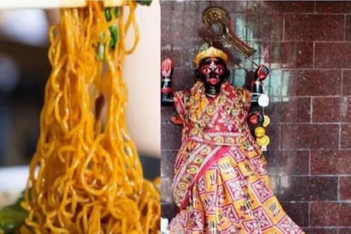 The temple and the idol look the same as in any other Goddess Kali temple in India.