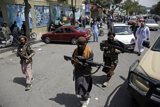 Taliban fighters patrol in Kabul, Afghanistan, Thursday, August 19, 2021. (AP)