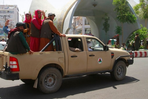 Taliban fighters on August 14 in Herat, the city west of Kabul that they captured prior to moving on Afghan capital Kabul (AP)