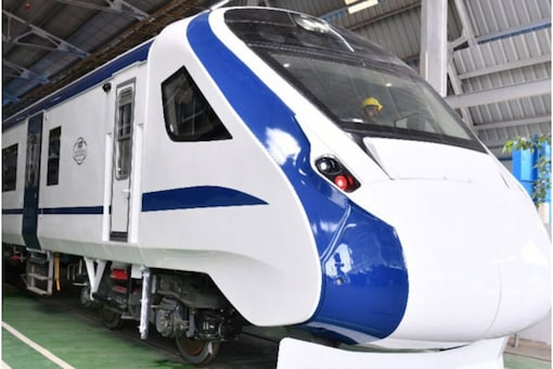 In 75 weeks of the 'Azadi ka Amrit Mahotsav', 75 'Vande Bharat' trains will connect different parts of country, the prime minister announced. (File pic)