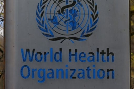 WHO logo pictured outside a building of the World Health Organization (WHO) during an executive board meeting on update on the coronavirus disease (COVID-19) outbreak. REUTERS/Denis Balibouse