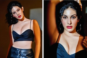 Amyra Dastur Oozes Oomph In Black Bralette And Leather Skirt, See Her Hottest Pictures