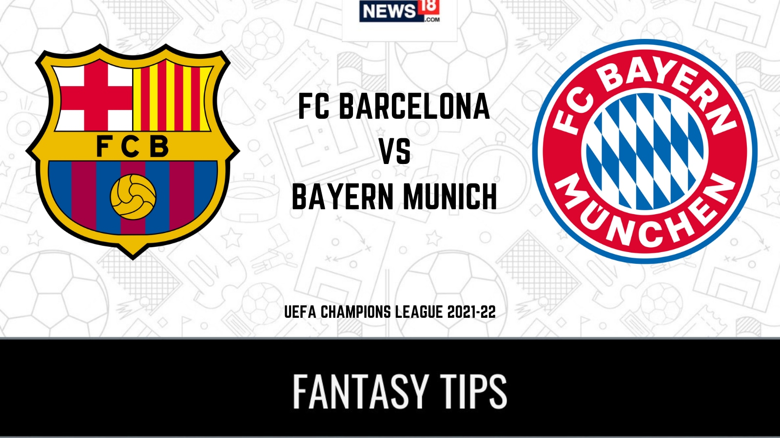 FCB vs BAY Dream11 Team Prediction and Tips for today's UEFA Champions League match: Check Captain, Vice-Captain and probable playing XIs for today's UEFA Champions League match FC Barcelona vs Bayern Munich September 15 12:30 AM IST