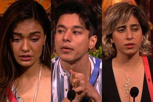 Nominated contestants Divya Agarwal, Pratik Sehajpal and Neha Bhasin (L-R)