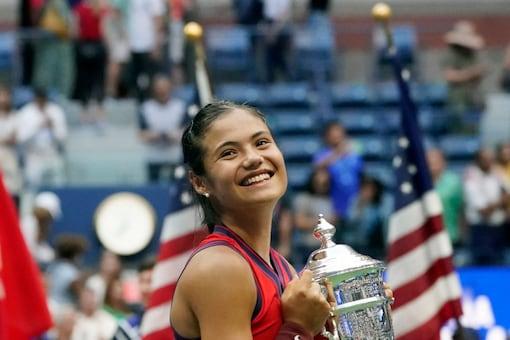 Emma Raducanu won the US Open women's singles title. (AP Photo)