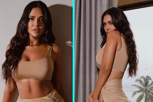 Esha Gupta Looks Beyond Sexy In Nude Bralette And High-Slit Skirt In Latest Photoshoot