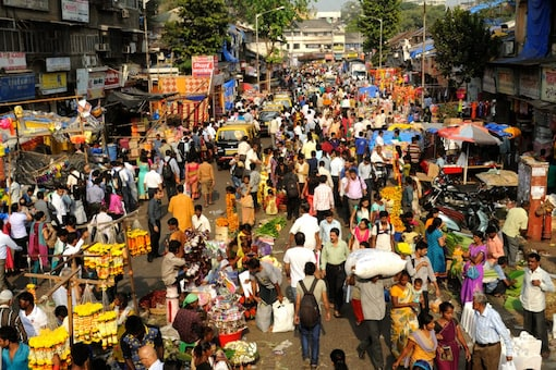Crowd at Dadar market in Mumbai ahead of Ganesh Chaturthi. Survey found that many feel that since they are vaccinated, the risk for them will be lower this year. (Image: Shutterstock file)