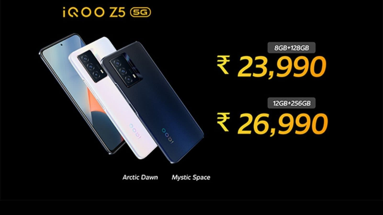 iQoo Z5 5G With 120Hz Display, Triple Cameras Launched in India