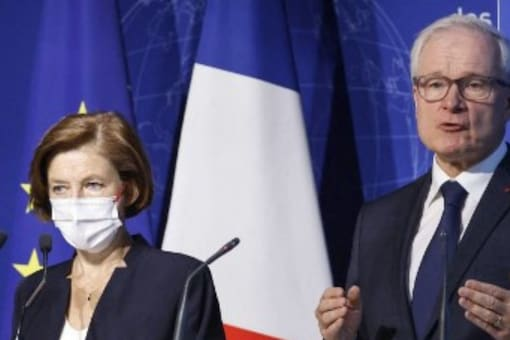 French defence minister Florence Parly and head of directorate general for external security Bernard Emie give details about an operation by French troops that led to the killing of the head of Islamic State in Greater Sahara . (Image: Ludovic MARIN/AFP)