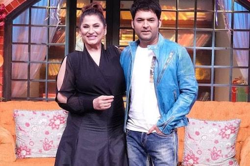 Kapil Sharma and Archana Puran Singh on the sets of The Kapil Sharma Show.