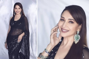 Madhuri Dixit Nene Is The Definition Of Glamour In Sheer Black Saree, See Her Best Saree Looks