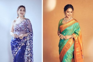 Madhuri Dixit Shows How You Can Never Go Wrong In A Saree, See Her Alluring Saree Moments