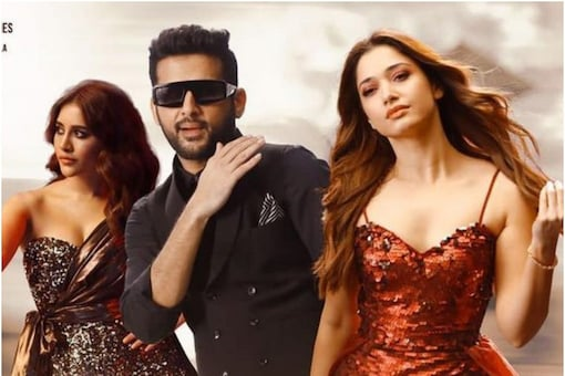 Maestro song art featuring Nithiin, Tamannaah and Nabha Natesh