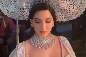Nora Fatehi Could Pass Off As Queen In Her Regal Lehenga Look, See The Diva's Sexy Pictures