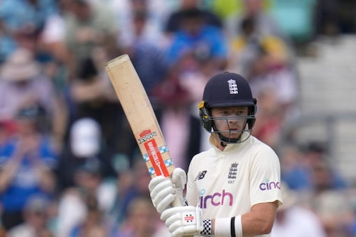 Ollie Pope top-scored in England's first innings. (AP Photo)