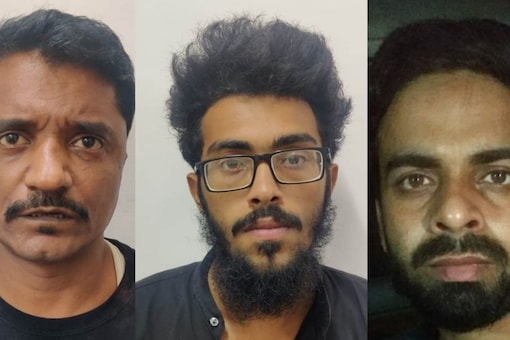 Jaan Mohammad Shaikh (left), Osama (center) and Mohd Amir Javed (right) have been arrested by a joint team of Delhi Police and UP ATS. (Image: News18)