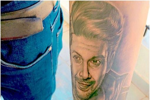 Shehbaz Badesha shows off his tattooed arm on social media