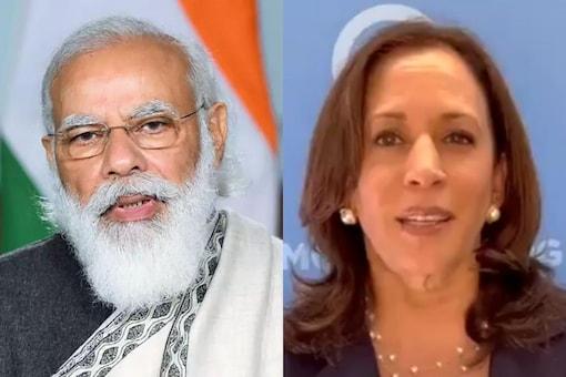 PM Modi is set to have his maiden formal meeting with US VP Kamala Harris. (Images: Modi: PTI; Harris: @KamalaHarris/Twitter)