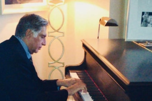 The Chairman Emeritus of Tata Sons posted a photo of himself playing the piano on Instagram. ( Credits: Instagram/Ratantata)