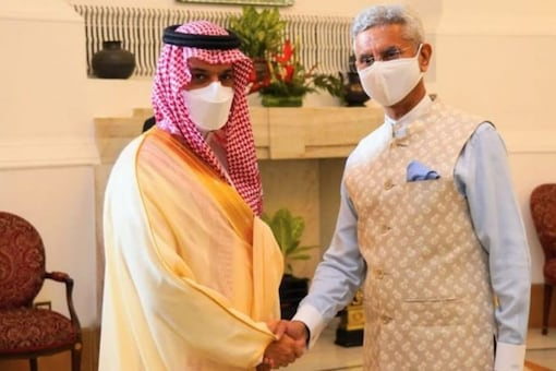 It is the first ministerial visit from Saudi Arabia to India since the outbreak of the pandemic. (Image: S Jaishankar's Twitter handle)
