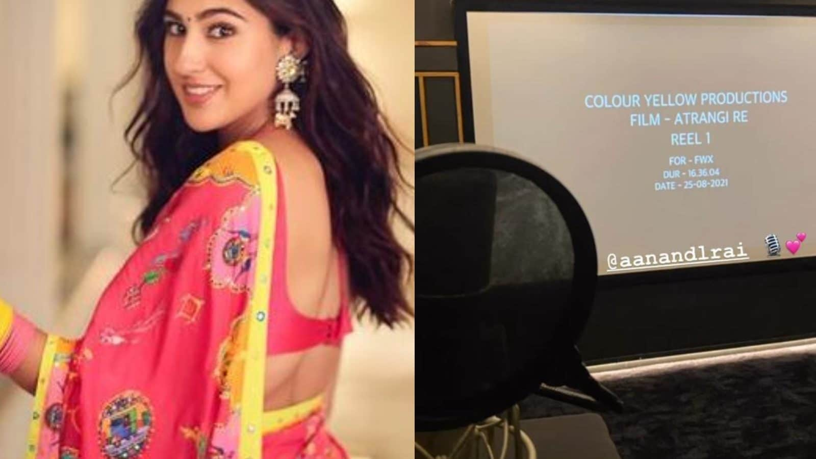 Sara Ali Khan Dubs For Atrangi Re While Akshay Kumar Hints at Film's OTT Release