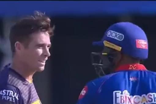 IPL 2021: Ravi Ashwin in heated exchange with Tim Southee.