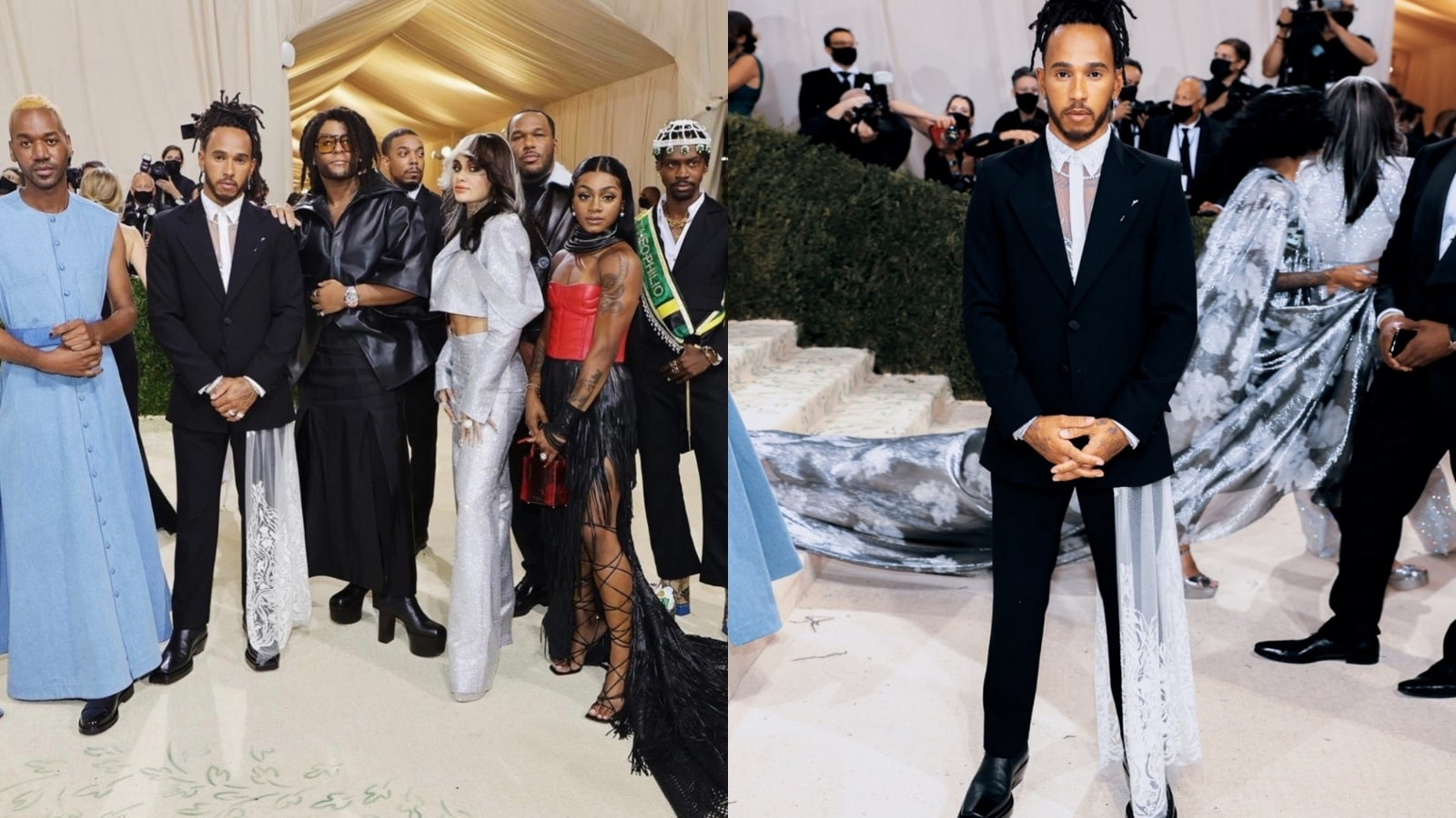 Lewis Hamilton Courts Controversy by Supporting 'Black Creatives' in Met Gala