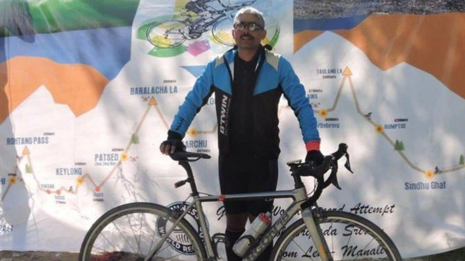 Army Officer Sets New Guinness Record for Fastest Solo Cycling from Leh  to Manali