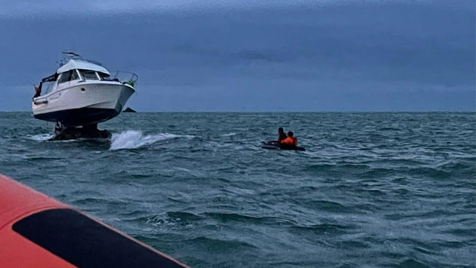 Boat Gets Stranded Atop Rocks in English Channel, Survivors Rescued After 12 Hours