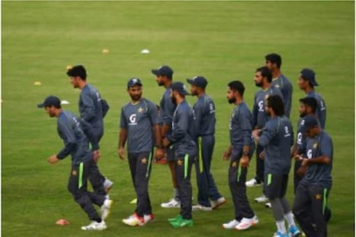 Pakistan team in practice session
