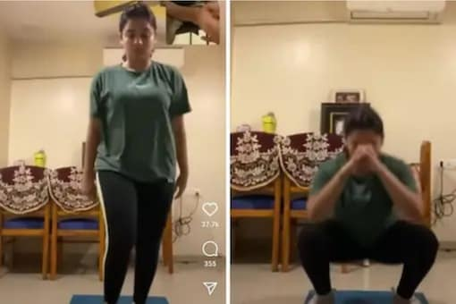 Hruta has started her weight loss routine.