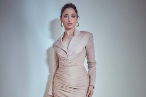 Tamannaah Bhatia Flaunts Curves In Ruched Blazer Dress, Check Out The Diva's Chic Style Moments