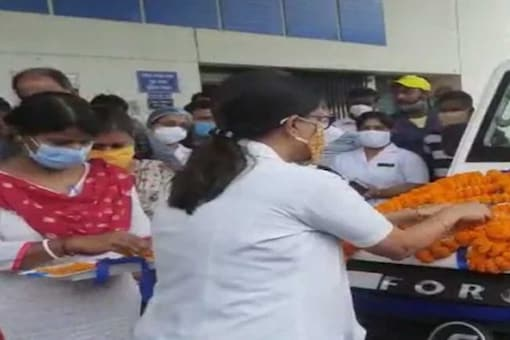 Father-son donated an ambulance to the Suri Super Specialty Hospital.