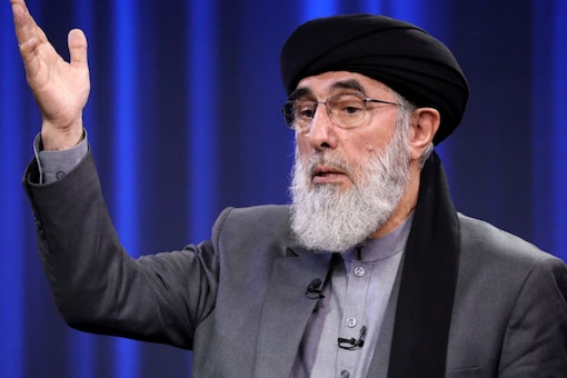 Former Afghan warlord and presidential candidate Gulbuddin Hekmatyar speaks during the presidential election debate at TOLO TV studio in Kabul, Afghanistan September 25, 2019. REUTERS/Omar Sobhani