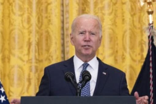 """US President Joe Biden and his supporters have taken to calling the current virus surge a """"pandemic of the unvaccinated"""".  (Image: Kevin Dietsch/Getty Images/AFP)"""