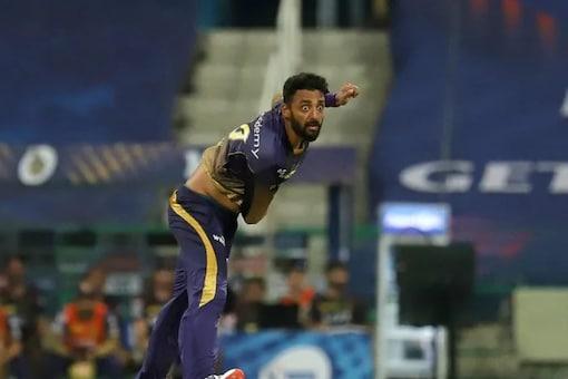 Varun Chakravarthy took three wickets vs RCB. (BCCI Photo)