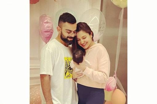 Virat Kohli with actress-wife Anushka Sharma and his daughter. (Anushka Instagram Photo)