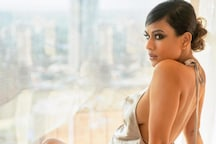 Nia Sharma Looks Sensuous, Seductive In A Backless Satin Dress; Check Out Her Hottest Pics