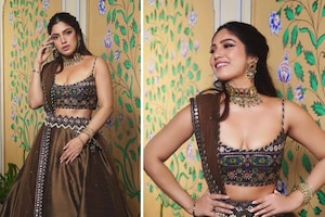 Bhumi Pednekar In Brown Lehenga Is Acing The Desi Girl Look, Check Out The Diva's Sexy Pictures