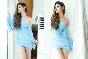 Mouni Roy Oozes Oomph In Blue Mini Dress, Take A Look At Her Drop-dead Gorgeous Pics