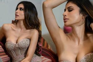 Mouni Roy Oozes Oomph In Sexy Cleavage-Baring Bodycon Dress, See Her Droolworthy Pictures