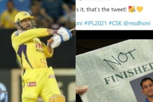 With MS Dhoni's bat doing all the talking, out came the vinateg memes on 'finisher' on Twitter and other social media platforms. (Image: Twitter)