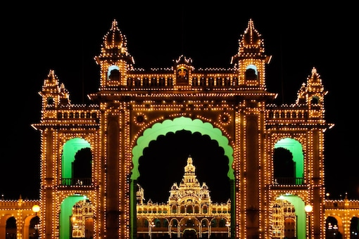 The visuals of the illuminated Mysore palace during this time of the year is a sight to behold. (Image: Shutterstock file)