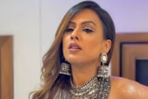 Nia Sharma Poses in Black Backless Bralette with Long Skirt in New Pics