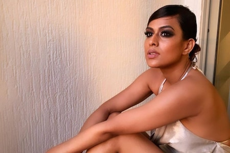 Nia Sharma Raises Temperature With Sultry Photos In Slinky Satin Dress, Check Them Out Here