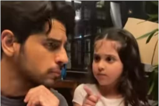 Sidharth Malhotra makes a reels video with a little fan