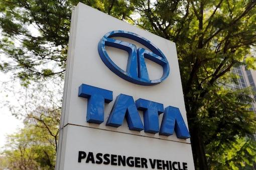 A logo of Tata Motors. (Reuters)