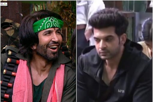 Karan Kundrra and Vishal Kotian are in opposing teams and they play against each other in a task