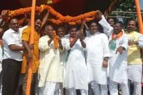 Jitan Ram Manjhi addresses rallies in Bihar
